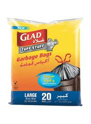 Glad Tuff Stuff Garbage Bag, Large, 20 Bags x 110 Liter