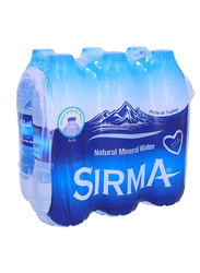 Sirma Natural Mineral Water, 6 Bottles x 1 Liter