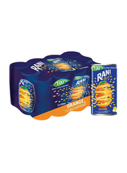 Rani Float Orange No Added Sugar Fruit Drink, 12 Cans x 180ml
