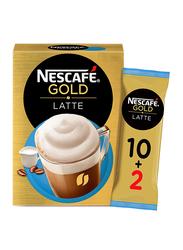 Nescafe Gold Latte Coffee, 12 Sachet x 19.5gm