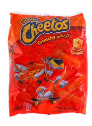 Cheetos Crunchy Cheese Cheese Flavored Snacks, 16 Packs x 25g