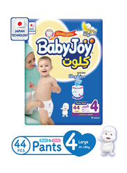 Baby Joy Culottes Jumbo Diapers, Size 4, Large, 10-18 Kg, 44 Count