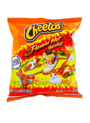 Cheetos Crunchy Flamin Hot Cheese Flavored Snacks, 35.4g