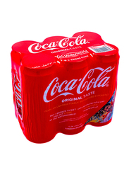 Coca Cola Original Soft Drink, 6 Cans x 330ml