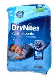 Huggies Drynites Pyjama Pants, 4-7 Years, 17-30 kg, Maxi Pack, Spider-man Print for Boys, 16 Count