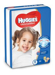 Huggies Ultra Comfort Superflex Jumbo Diapers, Size 6, 15+ Kg, 32 Count