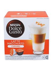 Nescafe Dolce Gusto Latte Macchiato Caramel Coffee, 16 Capsules, 168.8g
