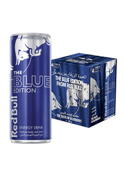 Red Bull The Blue Edition Blueberry Energy Drink, 4 Cans x 250ml