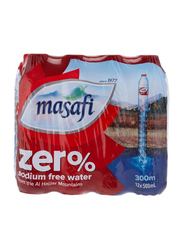 Masafi Zero Sodium Free Mineral Water, 12 Bottles x 500ml