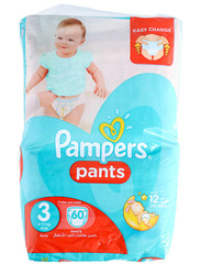 Pampers Pants, Size 3, Midi, 6-11 kg, Jumbo Pack, 60 Count