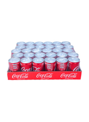 Coca Cola Original Soft Drink, 30 Cans x 150ml