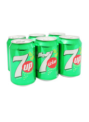 7Up Carbonated Soft Drink, 6 Cans x 330ml