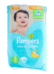 Pampers Baby Dry Diapers, Size 3, 5-9 kg, Jumbo Pack, 68 Count