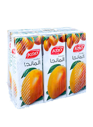 KDD Mango Flavor Juice Drink, 6 x 180ml