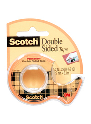 3M Scotch Double Sided Tap with Dispenser, Yellow/Black/Clear