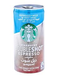 Starbucks Doubleshot Espresso No Added Sugar Arabica Coffee Drink, 200ml