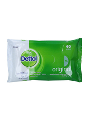 Dettol Original Anti-Bacterial Skin Wipes, 40 Sheets