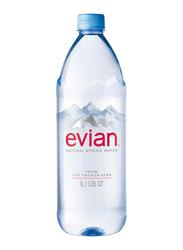 Evian Natural Spring Water, 1 Liter