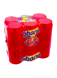 Shani Fruit Flavor Drink, 6 Cans x 355ml