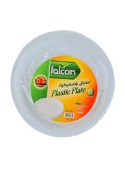 Falcon 26cm 25-Pieces M7 Plastic Round Plate, White