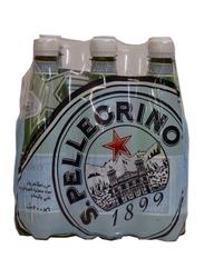 San Pellegrino Natural Sparkling Mineral Water, 6 Bottles x 500ml