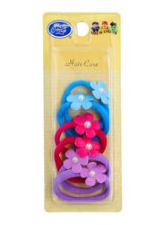Pretty Miss Ponytails Hair Ties, Blue/Pink/Purple, 6 Pieces