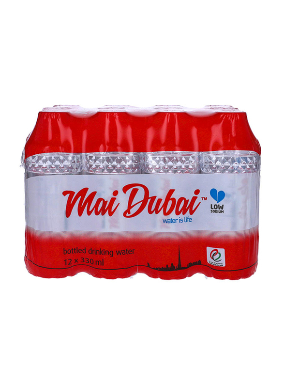 Mai Dubai Drinking Water Bottle, 12 Bottles x 330ml