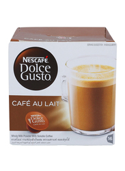 Nescafe Dolce Gusto Cafe Au Lait Coffee, 16 Capsules x 10g