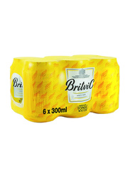 Britvic Soda Tonic Water, 6 Cans x 300ml