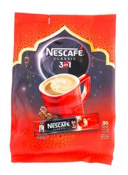Nescafe 3-in-1 Classic Instant Coffee Mix, 30 Sticks x 20g