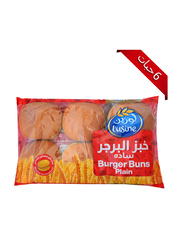 Lusine Plain Burger Bun, 6 Pieces, 402gm