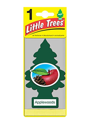 Little Trees Applewoods Hanging Car and Home Paper Air Freshener, Red