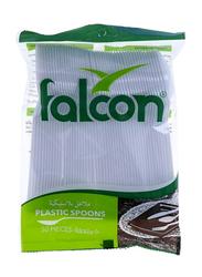 Falcon 50-Pieces Plastic Table Spoon, White
