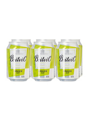 Britvic Ginger Ale Soda, 6 Cans x 300ml