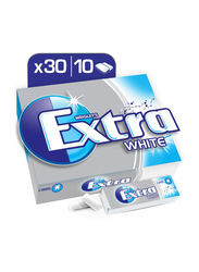 Wrigley Extra Gum White Chewing Gum, 30 Pieces x 14g