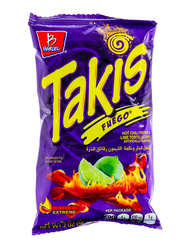 Takis Fuego Peper Lime Tortilla Chips, 56g