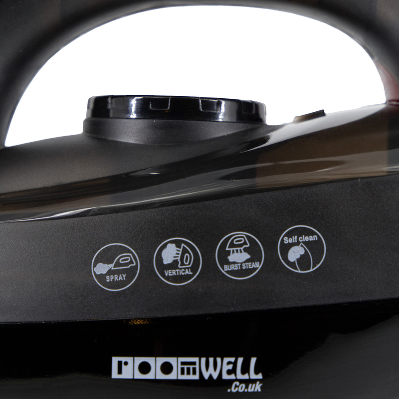 Roomwell UK Full Function Xpress Steam Iron, 1600W, EX 4100, Black