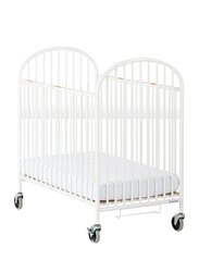 Foundations USA Pinnacle Steel Compact Folding Crib, White