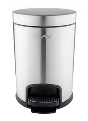 Roomwell UK Action Round Pedal Bin, Silver