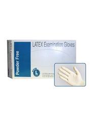 Health Essentials Latex Protective Disposable Gloves, Large, 100 Pieces