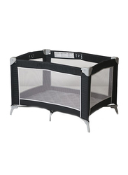Foundations USA Sleep 'n Store Portable Crib with Cover, Graphite, Grey/Black