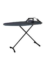 Roomwell UK Ironing Board T-Leg with Retractable Iron Rest, Charcoal Grey