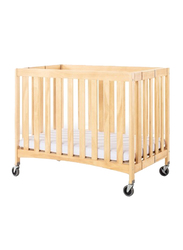 Foundations USA Travel Sleeper Wooden Compact Foldable Crib, Natural