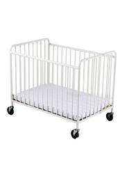 Foundations USA Stowaway Steel Foldable Crib, White