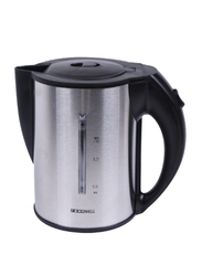 Roomwell UK 1L Electric Stainless Steel Portable Hot Water Kettle, 2200W, Silver/Black