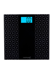 Roomwell UK Anti-Slip Weighing Scale, Black