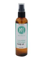 Mitra's Bath & Body Cucumber Mint Shea Body Oil, 118ml