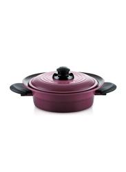 Roichen 3 Ltr Round Ceramic Smart Pot Casserole, 1.75 Kg, 67x30x7.2cm, Violet