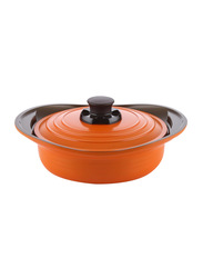 Roichen 24cm Premium Ceramic Low Casserole, 1.94 Kg, 33x27x6cm, Orange