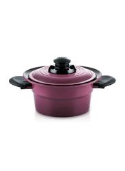Roichen 2.1 Ltr Round Ceramic Smart Pot Casserole, 1.23 Kg, 38x30.5x12.5cm, Violet